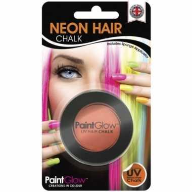 Oranje uv hairchalk
