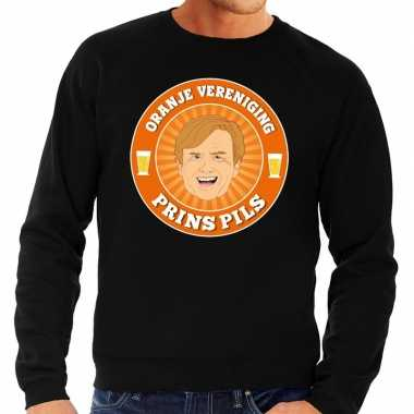 Oranje vereniging prins pils sweater zwart heren