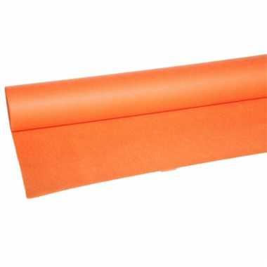 Oranje vilten tafelkleed