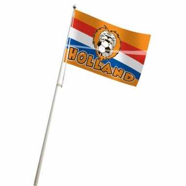 Oranje vlag met leeuw 100x150 cm
