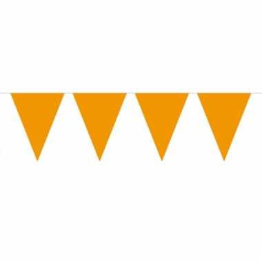 Oranje vlaggenlijn groot 10 meter