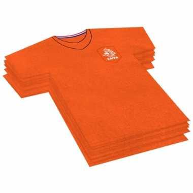 Oranje voetbal shirt servetjes 20 stuks