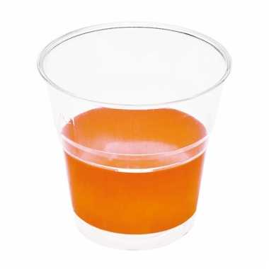 Oranje wegwerp bekertjes 10 stuks