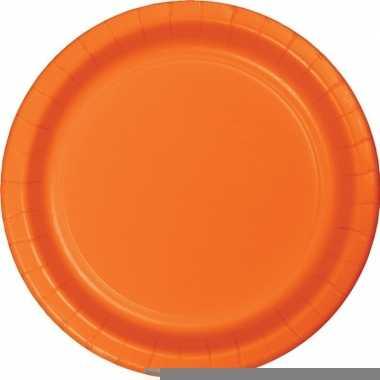 Oranje wegwerp borden 8 stuks