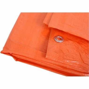 Oranje zeilen 6 x 8 meter
