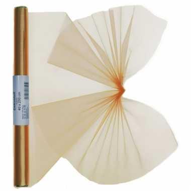 Organza tule stof goud 40 x 200 cm