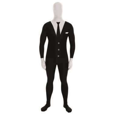 Originele morphsuit businessman print zwart