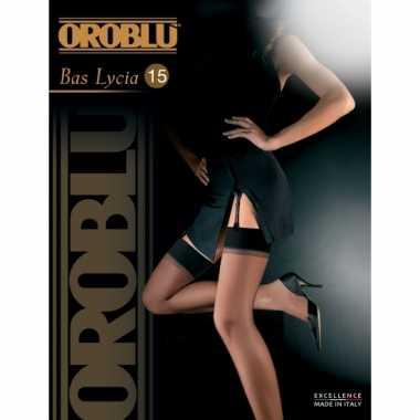 Oroblu bas lycia jarretel kousen zwart