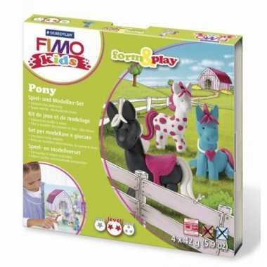 Oven verhardende klei pakket pony