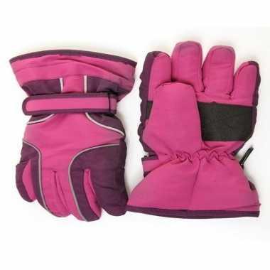 Paars winterhandschoen voor meisjes