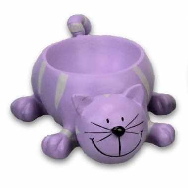 Paarse kat/poes eierdopje