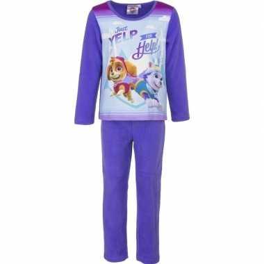 Paarse pyjama skye en everest voor meisjes