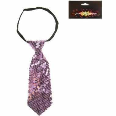 Pailletten stropdassen paars voor dames