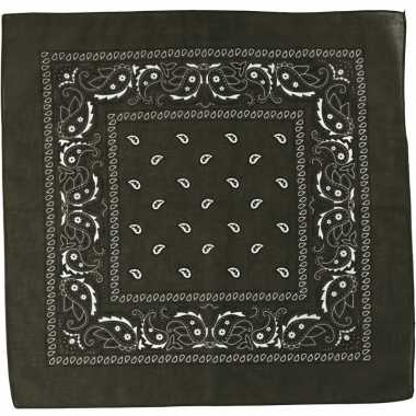 Paisley print bandana olijfgroen