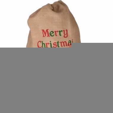 Pakjeszak kerstman jute 90 cm