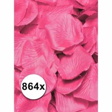 Pakket roze rozenblaadjes 864 stuks