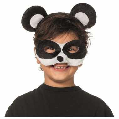 Panda oogmasker met diadeem voor kids