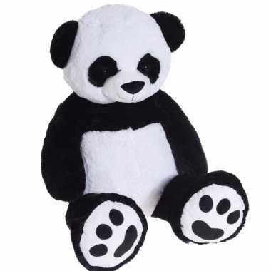 Panda pluche knuffelbeer van 1 meter