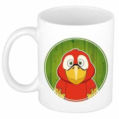 Papegaai dieren mok / beker van keramiek 300 ml