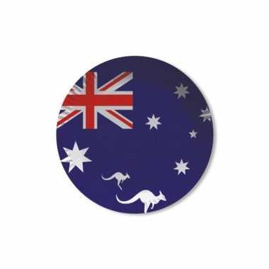Papieren australie bordjes 8 st