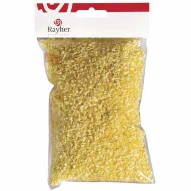 Papieren deco gras geel 50 gram