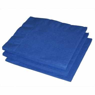 Papieren feest servetten blauw
