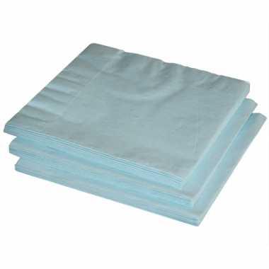 Papieren feest servetten lichtblauw