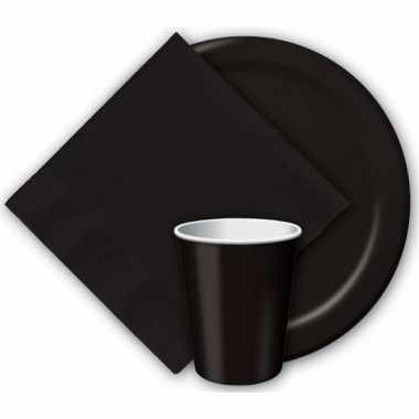 Papieren feest servetten zwart