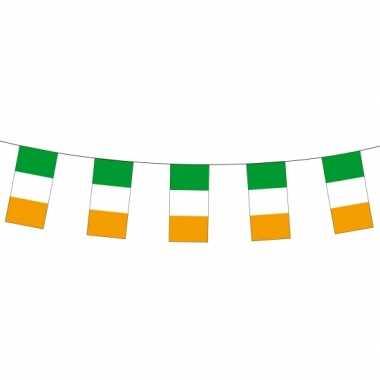Papieren vlaggenlijn ierland