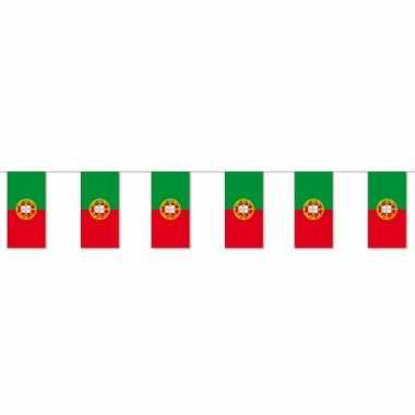 Papieren vlaggenlijn portugal