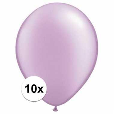 Parel lavendel qualatex ballonnen 10 stuks
