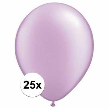 Parel lavendel qualatex ballonnen 25 stuks