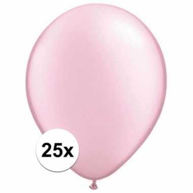 Parel roze qualatex ballonnen 25 stuks