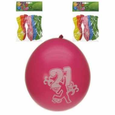 Party ballonnen 21 jaar 8 stuks