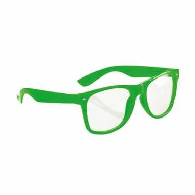 Party bril neon groen