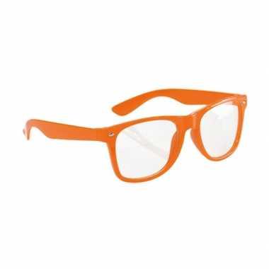 Party bril neon oranje