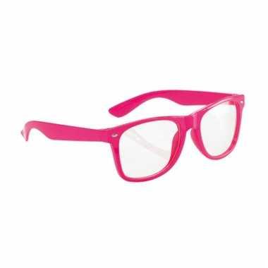 Party bril neon roze