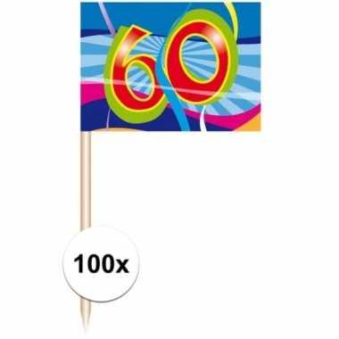 Party prikkers 60 jaar 100 stuks