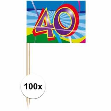 Party prikkertjes 40 jaar 100 stuks