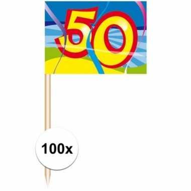 Party prikkertjes 50 jaar 100 stuks