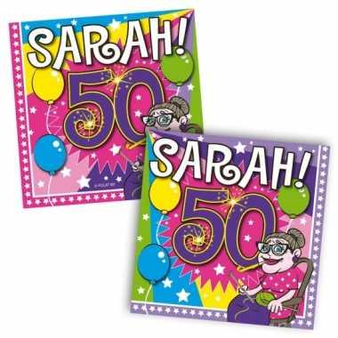 Party servetten 50 jaar sarah