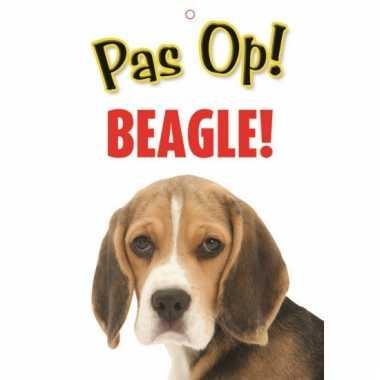Pas op voor beagle bordje