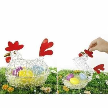 Pasen kip/decoratie eierschaal 25 cm