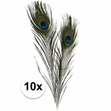 Pauwen veertjes 10 stuks