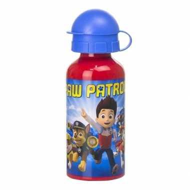 Paw patrol aluminium sport bidon rood 400 ml