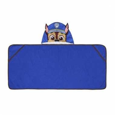 Paw patrol chase handdoek cape blauw voor kinderen