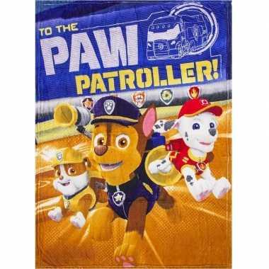 Paw patrol fleece bankdeken voor jongens