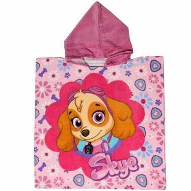 Paw patrol handdoek cape roze voor kids