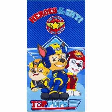 Paw patrol heroes badlaken blauw 70 x 140 cm