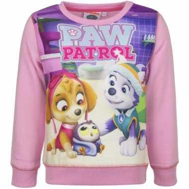 Paw patrol kinder sweater voor meisjes